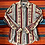 Thumbnail: Vintage Wrangler tan and maroon patterned button down size large/XL