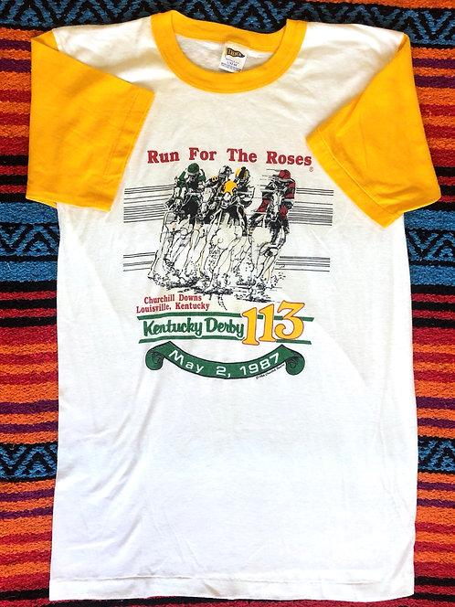 Vintage Kentucky Derby 1987 Ringer T Shirt Size Large