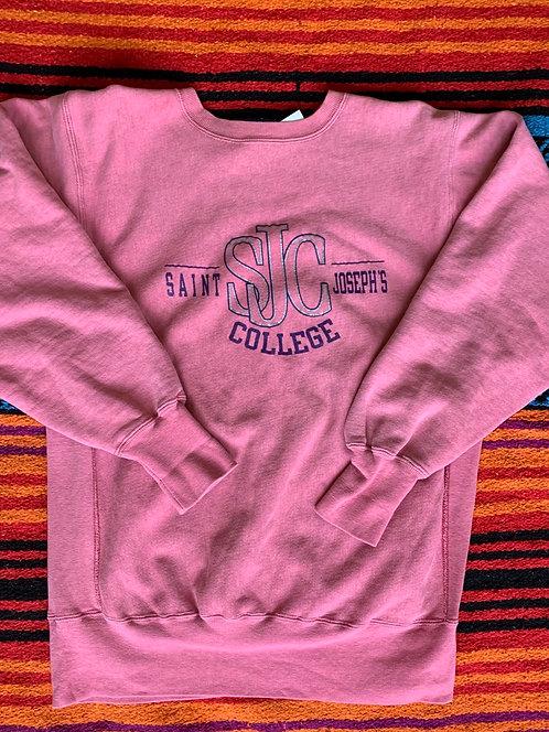 Vintage pink Saint Joseph College Champion Reverse Weave sweatshirt size Large