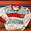 Thumbnail: Vintage striped collared sweatshirt with Olympic patches size large/XL