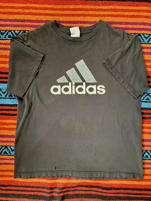 Vintage Adidas faded black t-shirt size XL