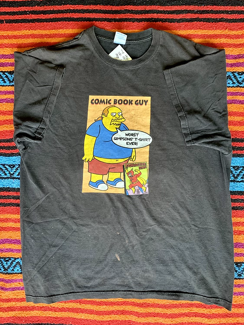 Vintage Simpsons comic book guy t-shirt size XL