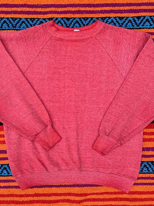 Vintage faded red crew neck sweatshirt size Medium