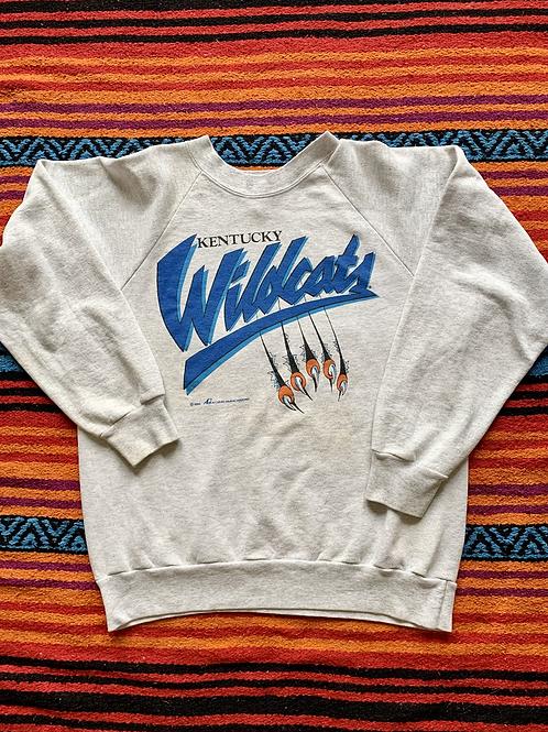 Vintage 1993 University of Kentucky Wildcats claw gray sweatshirt size large