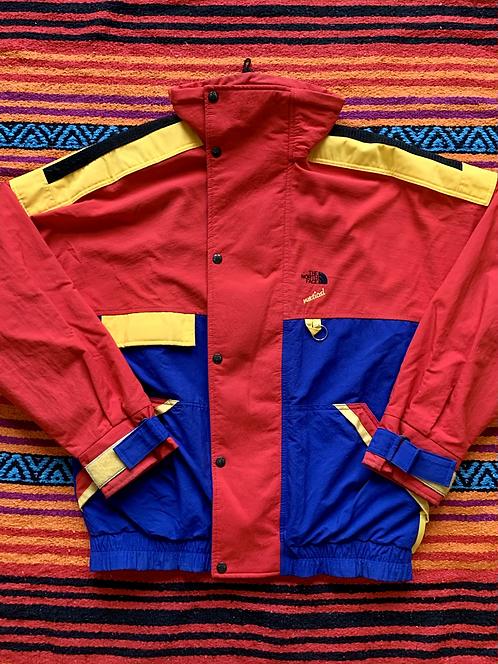 Vintage North Face Gore-tex Vertical color block jacket with detachable hood siz