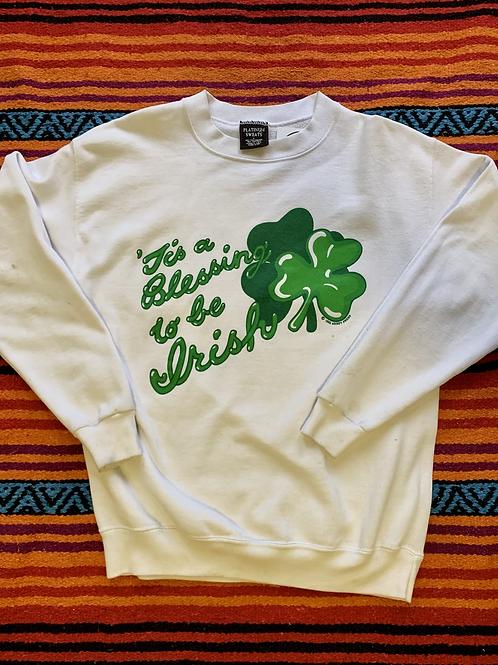 Vintage Blessing to be Irish sweatshirt size large