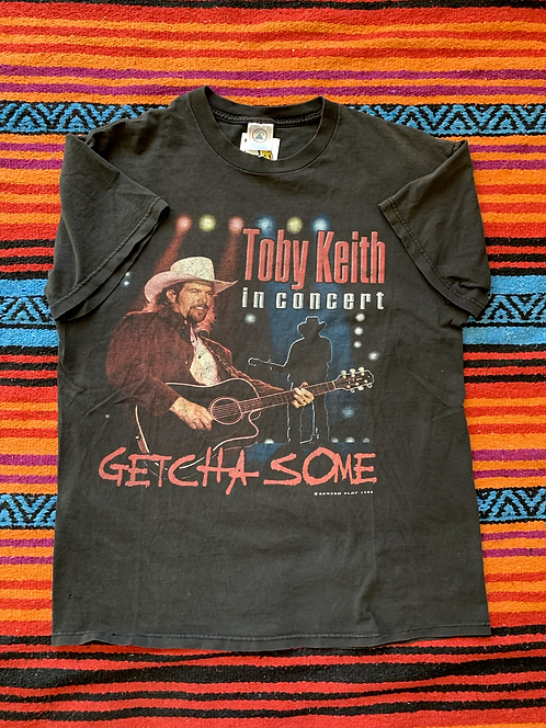 "Vintage 1999 Toby Keith in Concert ""Getcha Some"" black t-shirt size large"