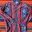 Thumbnail: Vintage colorful patterned button down shirt size large/XL