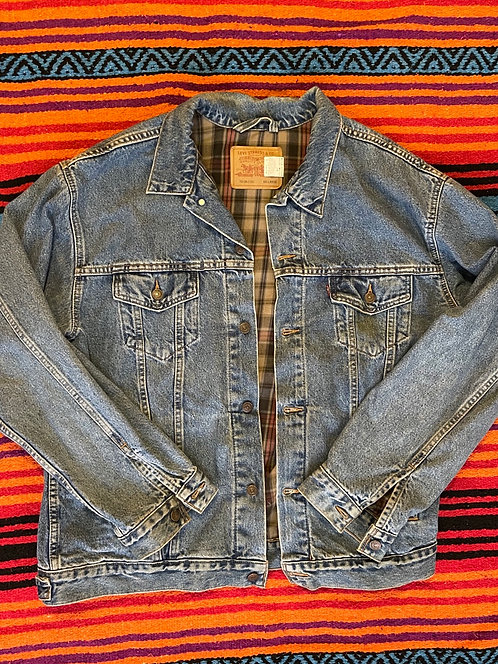 Vintage Levi's Denim Jacket with Flannel Lining Size XXL