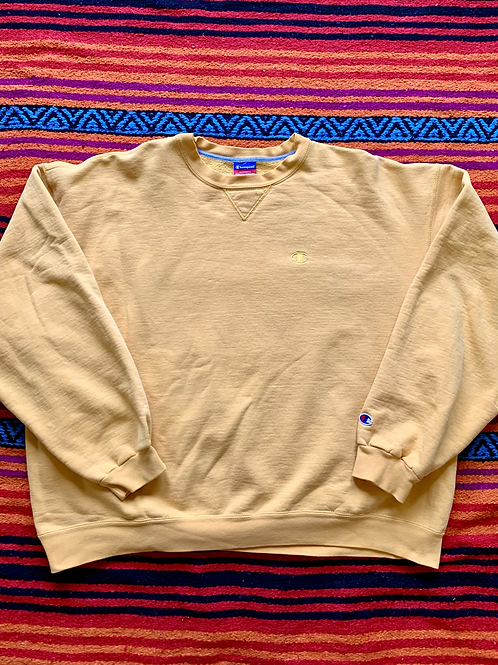 Vintage Champion yellow sweatshirt size XXL