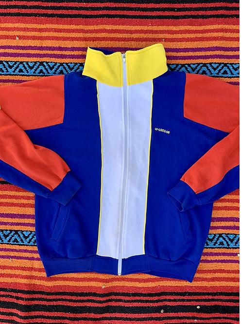 Vintage McGregor color block zip up size Large