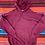 Thumbnail: Vintage blank maroon hoodie size Medium