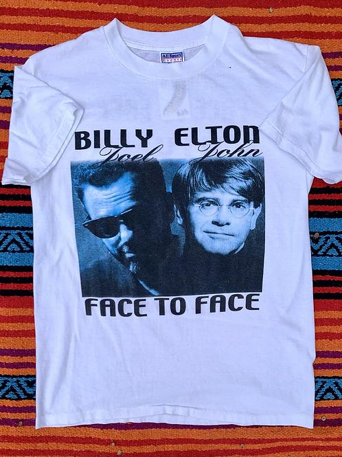 Vintage Billy Joel Elton John Face to Face 2003 Tour t shirt size medium