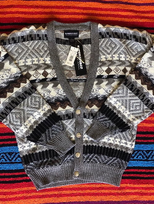 Vintage Expressions International Printed Cardigan Size M