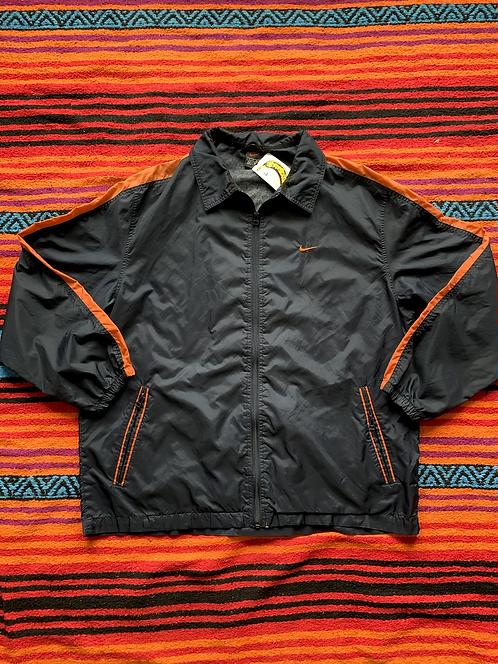 Vintage Nike navy and orange windbreaker jacket size large