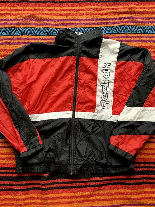 Vintage Reebok striped windbreaker jacket size XL