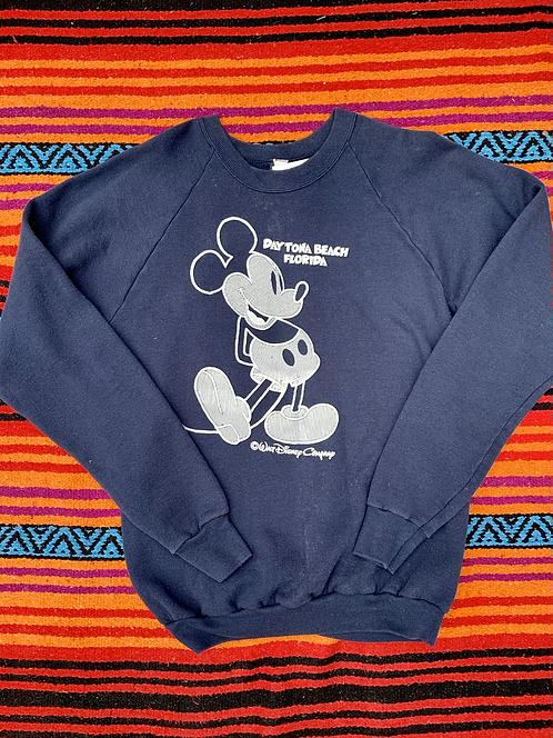 Vintage Mickey Mouse Daytona Beach navy sweatshirt size XL