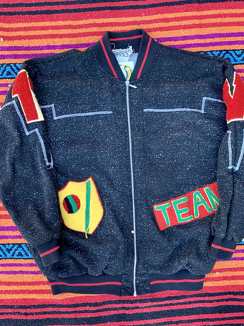 Reebok Sport patched varsity jacket size Large