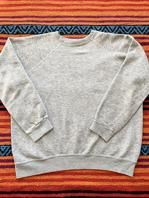 Vintage 80's Heather Gray Raglan Sweatshirt Medium