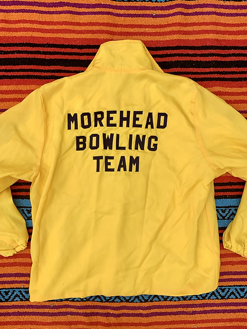 Vintage Morehead Bowling Team yellow jacket size large