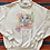 Thumbnail: Vintage 1993 cat and flowers sweatshirt with lace collar size large/XL