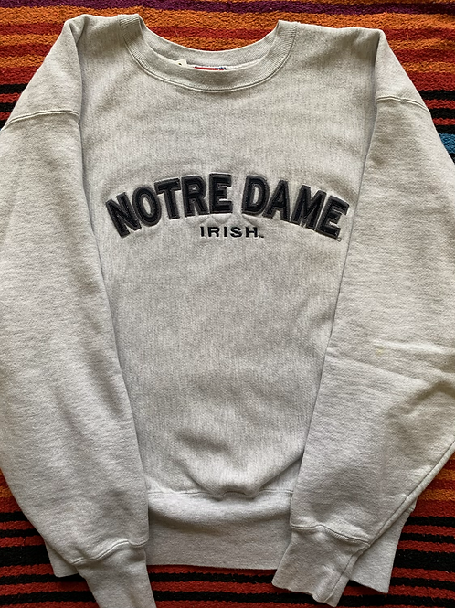 Vintage Champion Notre Dame Reverse Weave Sweatshirt L