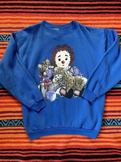 Vintage blue rag doll sweatshirt size large