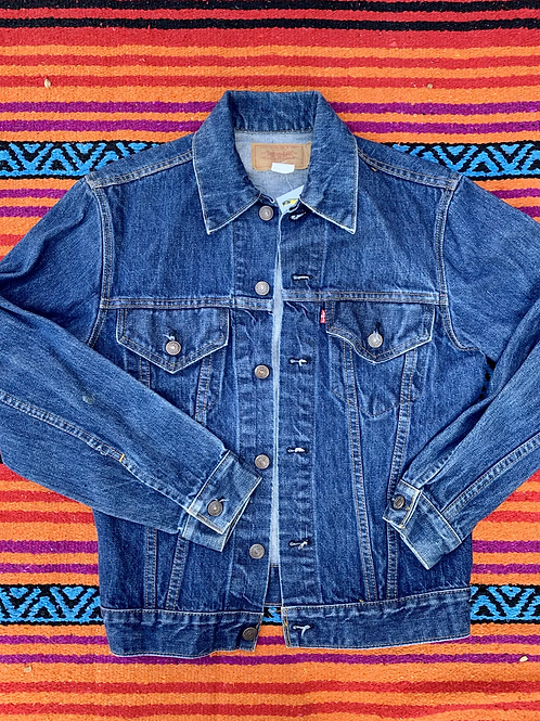 Vintage dark wash Levi's denim jacket size Small
