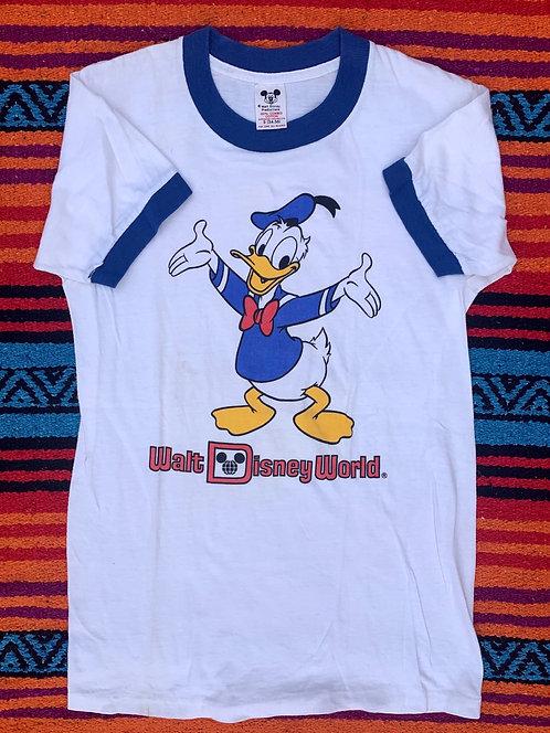 Vintage Disney Donald Duck ringer T shirt size Small