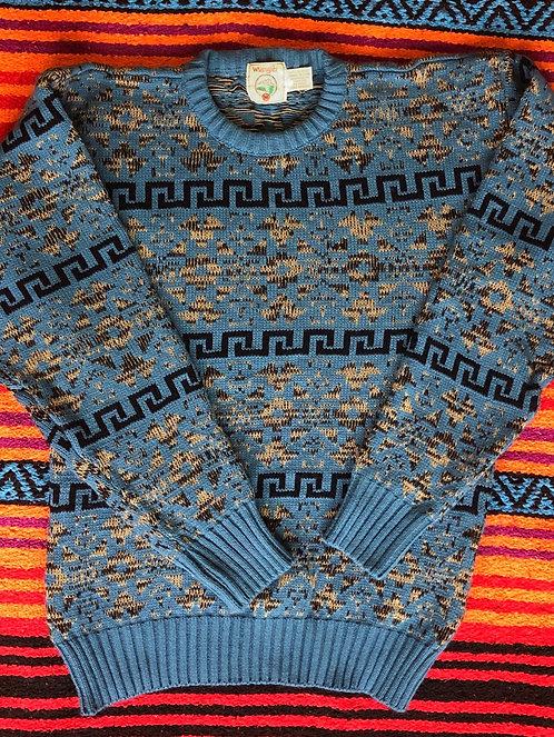Vintage Blue Wrangler Pullover Sweater Size M