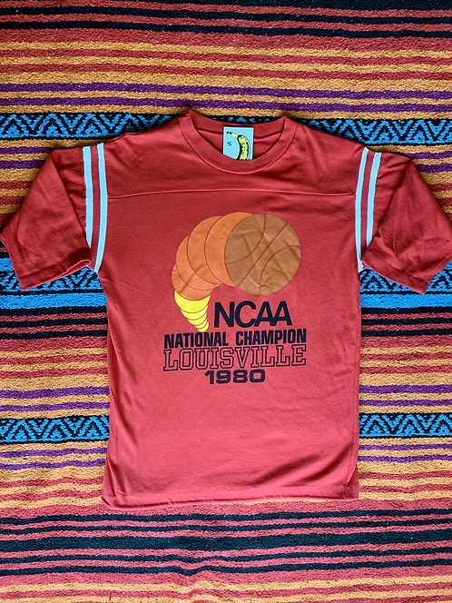 Vintage NCAA Louisville Cardinals 1980 National Champion t-shirt size small