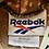 Thumbnail: Vintage Reebok faded bleach tie-dye hoodie size medium