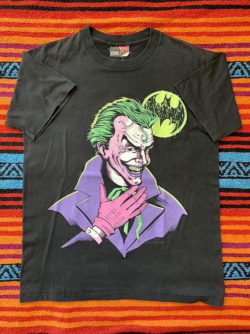 Vintage 1989 DC Comics Batman Joker black t-shirt size medium/large