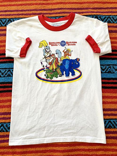 Vintage 80's Ringling Bros Ringer Shirt Small