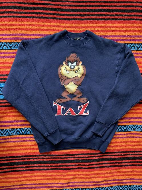Vintage 1995 Looney Tunes Taz navy sweatshirt size XXL
