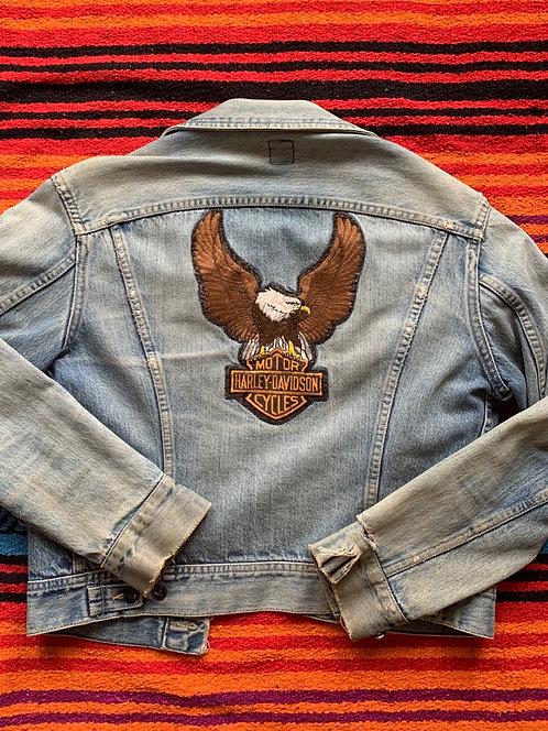 Vintage Lee Harley Davidson denim jacket size Small