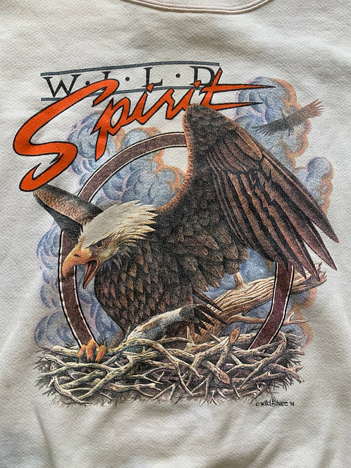 Vintage 1993 Wild Spirit Bald Eagle crewneck sweatshirt size Medium/Large