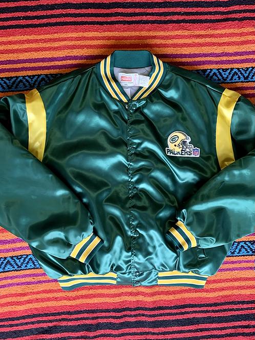 Vintage Greenbay Packers dark green varsity jacket size XXL