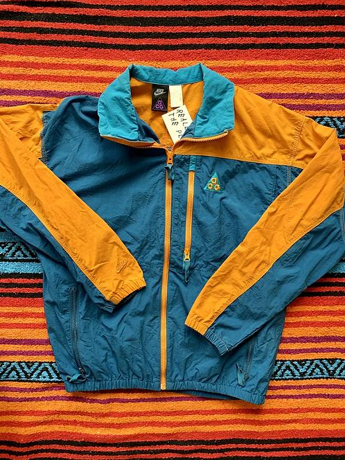 Vintage 90s Nike ACG teal and orange windbreaker size medium
