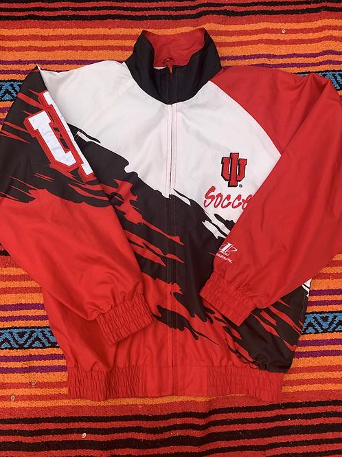 Vintage Indiana University soccer windbreaker size medium