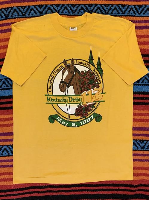 Vintage 80's Kentucky Derby Shirt M