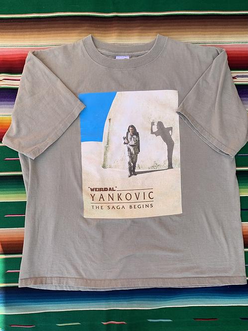 Vintage Weird Al Yankovic Tour Star Wars parody tan t-shirt size large