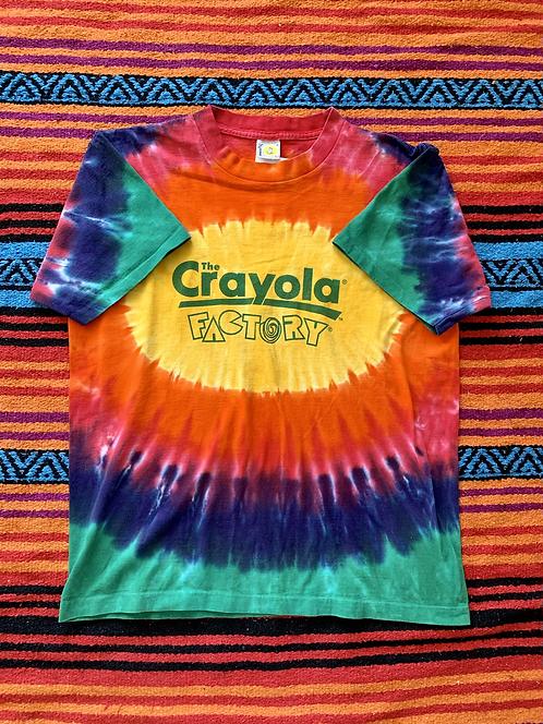 Vintage Crayola Factory rainbow tie-dye t-shirt size large