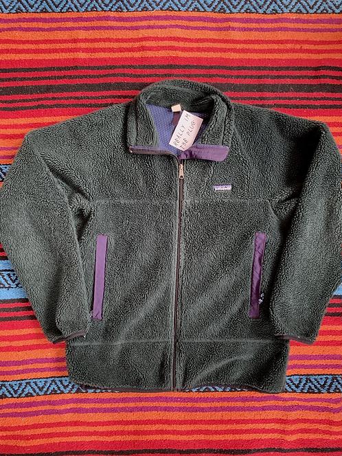 Vintage 1992 Patagonia dark forest green zip-up fleece size large