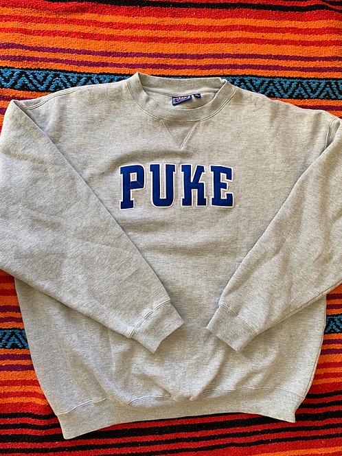 Reworked Vintage Puke Sweatshirt size XXL