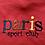 Thumbnail: Vintage Paris Sports Club maroon and navy sweatshirt size medium/large