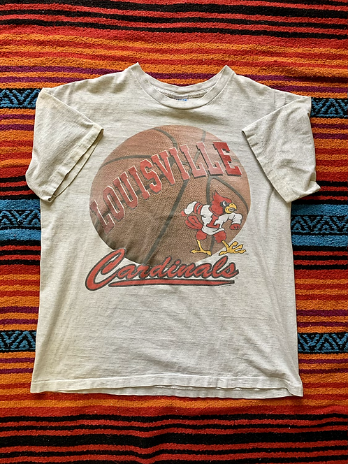 Vintage University of Louisville Cardinals basketball gray t-shirt size XL