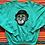 Thumbnail: Vintage clown turquoise sweatshirt size large/XL