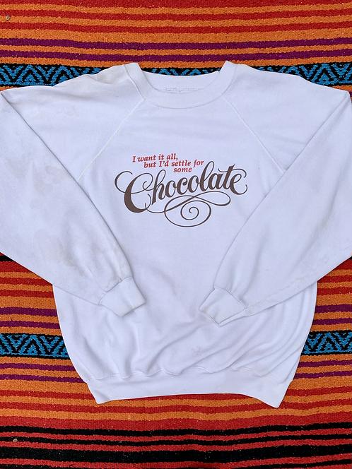 Vintage Hallmark chocolate sweatshirt size XL