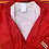 Thumbnail: Vintage reworked  red bomber jacket with Gucci patch size large